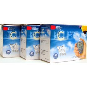 Eclipse diabetic test strips - buy 2, get 1 free!!! a total of 150 strips - expiry date 05/2011 (2)