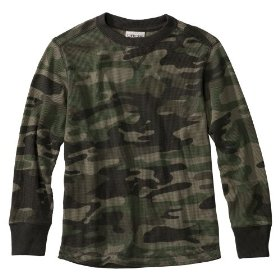 Boys' cherokee® camo striped long-sleeve thermal shirt