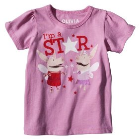 Toddler girls' pink short-sleeve olivia tee