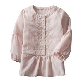 Gap dobby pintuck tunic shirt