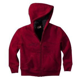 Boys' mossimo supply co. red faux fur hoodie sweatshirt