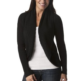 Mossimo® women's rib open cardigan sweater - black