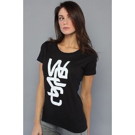 Wesc the overlay tee in black,t-shirts for women