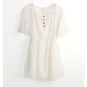 Sound & matter chiffon polka dot dress