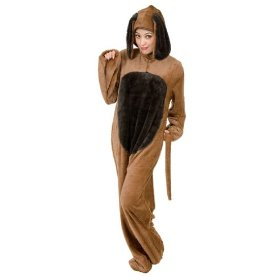 Original plus size brown big dog costume
