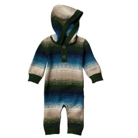 Newborn boys' genuine baby from oshkosh multicolor hooded unionsuit