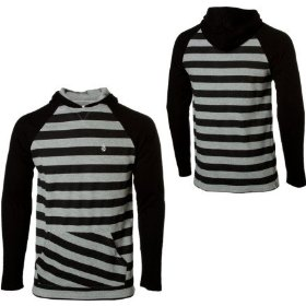 Volcom solid/stripe thermal hooded shirt - long-sleeve - men's