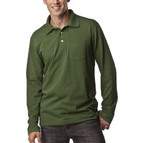 Merona® long-sleeve polo - pine