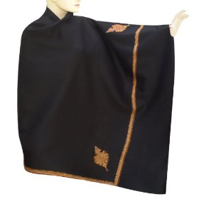 Handmade kashmiri embridered or cashmere wool shawl from kashmir shwl0213r