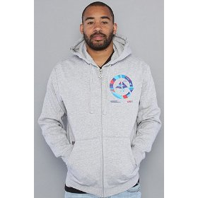 Lrg the run for cover full zip hoody in ash heather hood ,sweatshirts for men