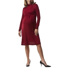Liz lange® for target® maternity long-sleeve knotted-turtle-neck dress - garnet xxl