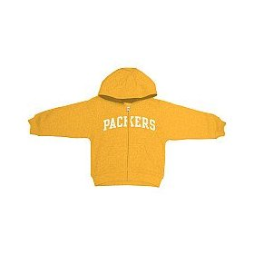 Reebok green bay packers infant full zip hooded sweatshirt