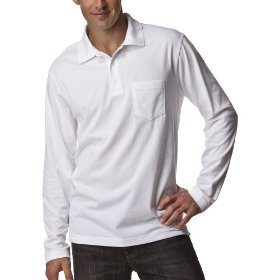 Merona® long-sleeve polo - white