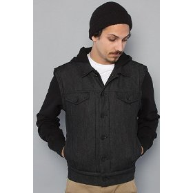 Nixon the zach jacket in blackjcak,jackets for men
