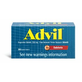 Advil ibuprofen, 200 mg, 200 coated tablets