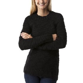 Mossimo supply co. juniors handknit pullover sweater - black
