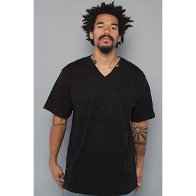 Lrg core collection the grass roots two v-neck tee in black,t-shirts for men