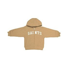 Reebok new orleans saints infant full zip hooded sweatshirt