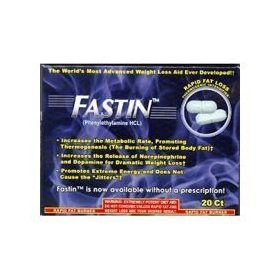 Fastin rapid fat loss catalyst thermogenic intensifier dietary supplement tablets - 20 ea