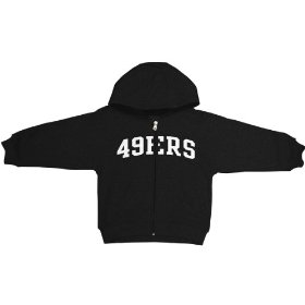 Reebok san francisco 49ers boys (4-7) full zip hooded sweatshirt