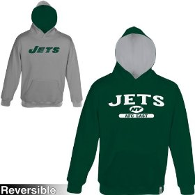 Reebok new york jets boys (4-7) home & away reversible hooded sweatshirt
