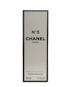 No. 5 by Chanel for Women, Eau de Toilette Spray, 1.7 Ounce (50ml)