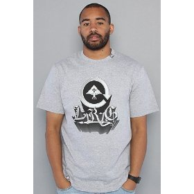 Lrg the art of cycling tee in ash heather,t-shirts for men