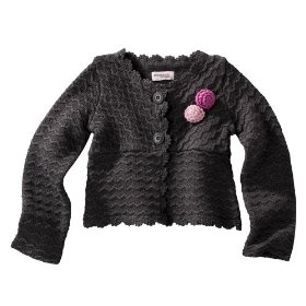 Infant toddler girls' genuine kids from oshkosh vienna smoke long-sleeve cardigan