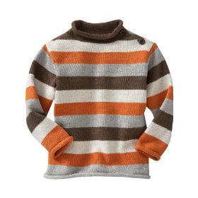 Gap striped rollneck sweater