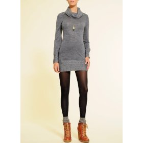 Mango women's retro-style turtleneck dress