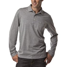 Merona® long-sleeve polo - grey