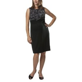 Liz lange® for target® maternity sleeveless ponte dress -ebony print