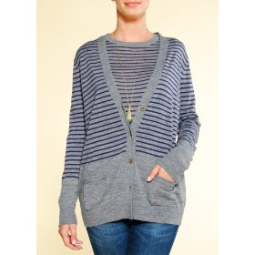 Mango women's loose-fit srtiped cardigan