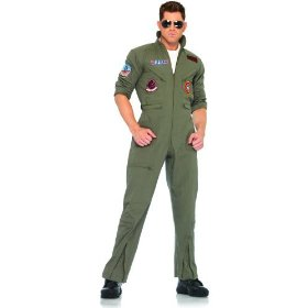 Top gun men's flight suit adult costume