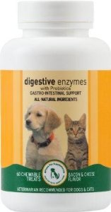 Digestive Enzymes and Probiotics Supplement for DOGS - 60 Tablets