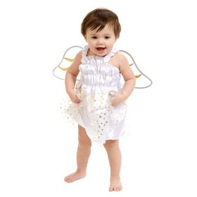 Angel dress with wings & halo infant costume