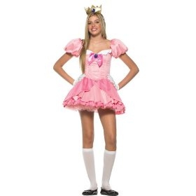 3pc mario bros. princess peach cute holiday party costume