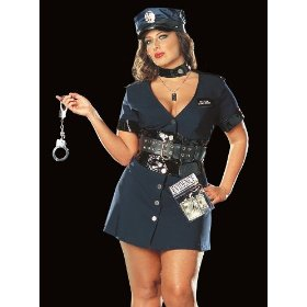 Corrupt cop plus size adult costume