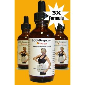 Yavonae hcg oral drops 3x formula- orange - for dr simeons quick weight loss diet homeopathic 2 fl o
