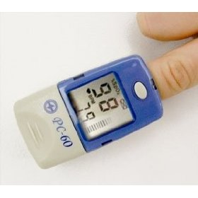 Devon medical pc60org fingertip pulse oximeter with free pouch
