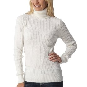 Merona® women's cable turtleneck sweater - polar bear