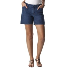 Cherokee® women's elastic back short - medium denim