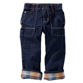 Infant toddler boys' genuine kids from oshkosh dark stonewash workwear denim pant