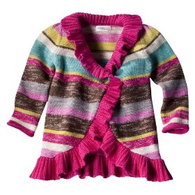 Infant toddler girls' genuine kids from oshkosh multicolor striped sweater
