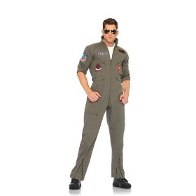 Mens adult 2pc. top gun men's flight suit, zipper front flight suit, sunglasses leg avenue costu