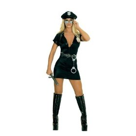 Naughty female police correctional officer costume