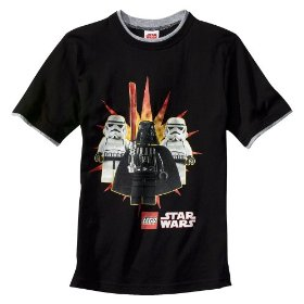 Boys' lego star wars black short-sleeve graphic tee