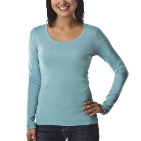 Merona® women's ultimate long sleeve tee - quiet aqua