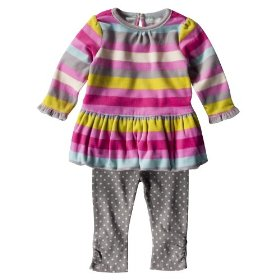 Newborn girls' genuine baby from oshkosh pink stripe tunic set