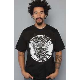 Crooks and castles the bentley medusa tee in black,t-shirts for men